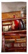 Fireman - Ladder Company 1 Beach Towel by Mike Savad