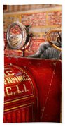 Fireman - Mastic Chemical Co Beach Towel by Mike Savad