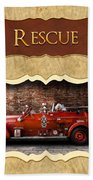 Fireman - Rescue - Police Beach Towel by Mike Savad
