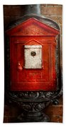 Fireman - The Fire Box Beach Towel