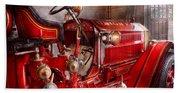 Fireman - Truck - Waiting For A Call Beach Towel