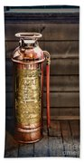 Fireman - Vintage Fire Extinguisher Beach Towel