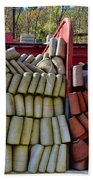 Fireman Vintage Hoses Beach Towel