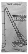 Fireman's Hydraulic Lift Patent Drawing Beach Towel