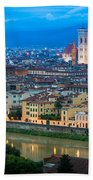 Firenze By Night Beach Towel by Inge Johnsson