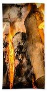 Fireplace II Beach Towel