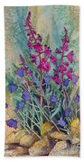 Fireweed And Bluebells Beach Towel
