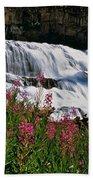 Fireweed Blooms Along The Banks Of Granite Creek Wyoming Beach Towel