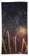 Fireworks-3027 Beach Towel