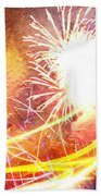 Fireworks As A Painting Beach Towel