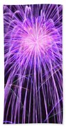 Fireworks At Night 2 Beach Sheet