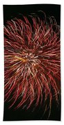 Fireworks At Night 5 Beach Towel