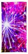 Fireworks At Night 7 Beach Sheet