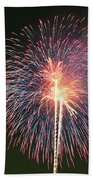 Fireworks At Night 9 Beach Sheet