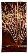 Fireworks At Tempe Town Lake  Beach Towel by Saija  Lehtonen