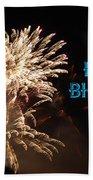 Fireworks Birthday Beach Towel