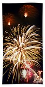 Fireworks Beach Towel by Elena Elisseeva