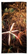 Fireworks Exploding Everywhere Beach Towel by Garry Gay