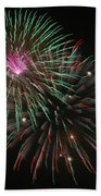 Fireworks Exploding Beach Towel