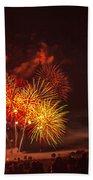 Fireworks Finale Beach Towel by Robert Bales