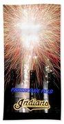 Fireworks Finale Beach Towel