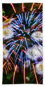Fireworks Flower Abstract Beach Towel