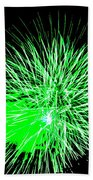 Fireworks In Green Beach Towel