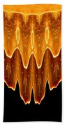 Fireworks Melting Abstract Beach Towel