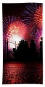 Fireworks Beach Towel by Nishanth Gopinathan