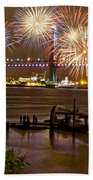 Fireworks On The Ben Beach Towel