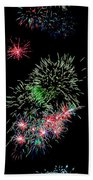Fireworks Over The Bay Beach Towel