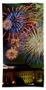 Fireworks Over The Museum Beach Towel