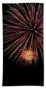 Fireworks Panorama Beach Towel