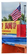 Fireworks Stand Beach Towel