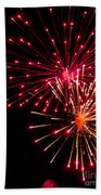 Fireworks1 Beach Towel