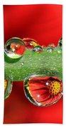 Firey Drops Beach Towel by Gary Yost