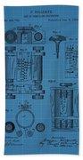 First Computer Blueprint Patent Beach Towel
