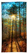 First Day In Heaven Beach Towel
