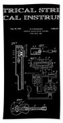 First Electric Guitar 2 Patent Art  1937 Beach Towel