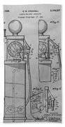 First Gas Pump Patent Drawing Beach Towel