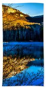 First Light At Pinnacle Lake Beach Towel