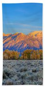 First Light On The Tetons Limited Edition Panorama Beach Towel