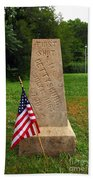 First Shot Monument Gettysburg Beach Towel by James Brunker