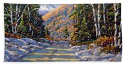 First Snow By Prankearts Beach Towel