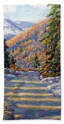 First Snow By Prankearts Beach Towel by Richard T Pranke