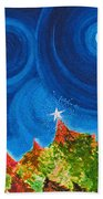 First Star Christmas Wish By Jrr Beach Towel by First Star Art