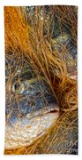 Fish On The Net Beach Towel by Stelios Kleanthous