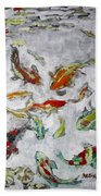 Fish Pond V2					 Beach Towel