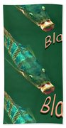 Fish Say Blah Blah Blah Beach Towel
