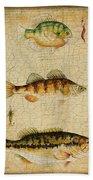 Fish Trio-c-basket Weave Beach Towel